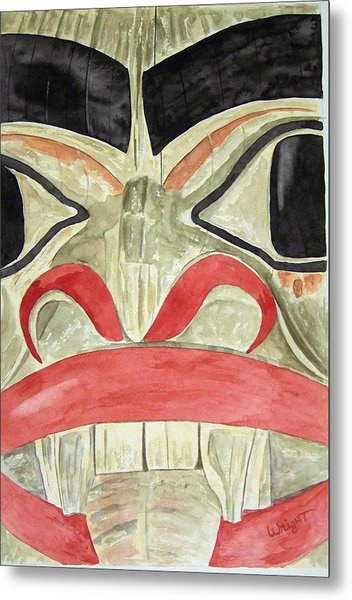 Tlingit Clan Beaver Metal Print by Larry Wright