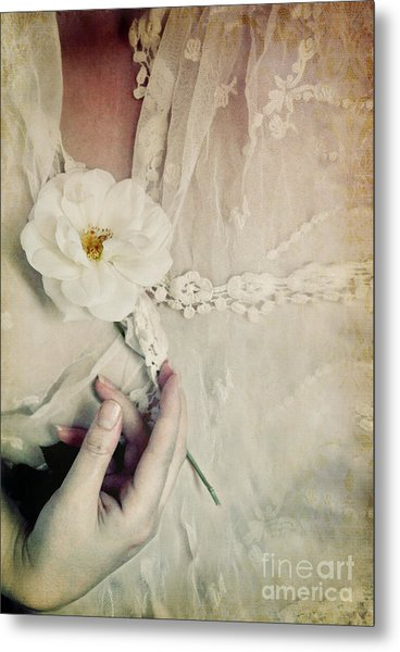 To Hold A Rose So Sweet Metal Print