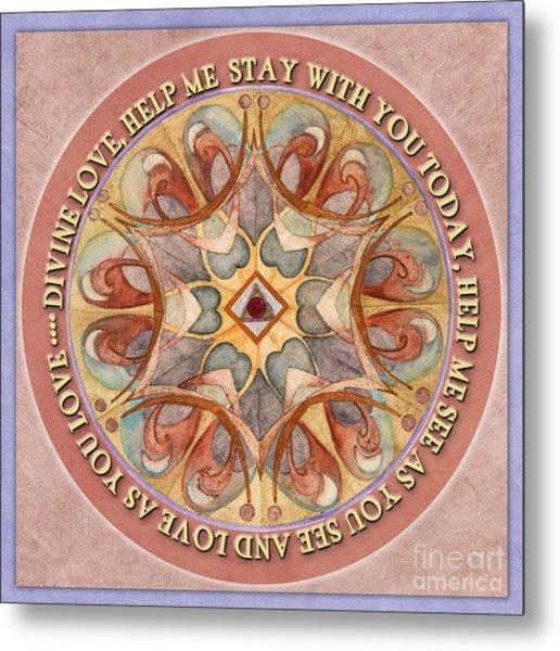 To See As Love Sees Mandala Prayer Metal Print