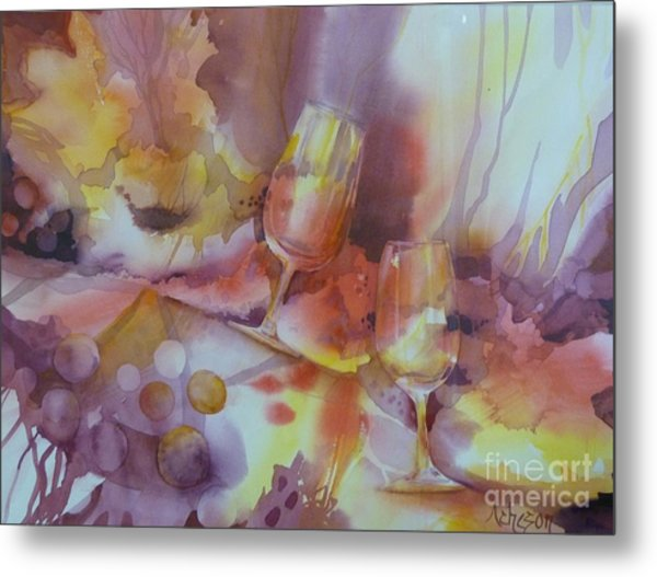 To The Bottom Of The Glass Metal Print
