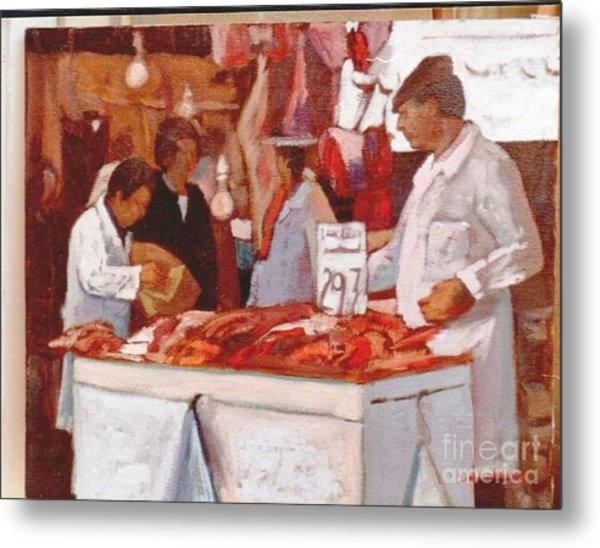 To The Butchers Metal Print by George Siaba