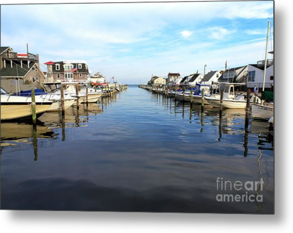 To The Sea At Lbi Metal Print by John Rizzuto