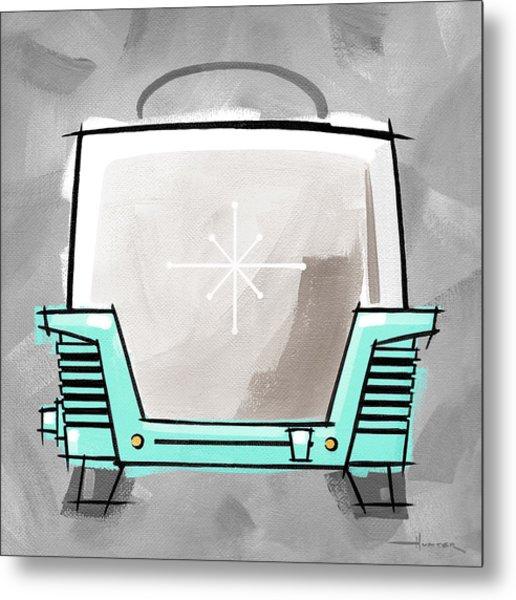 Toaster Aqua Metal Print