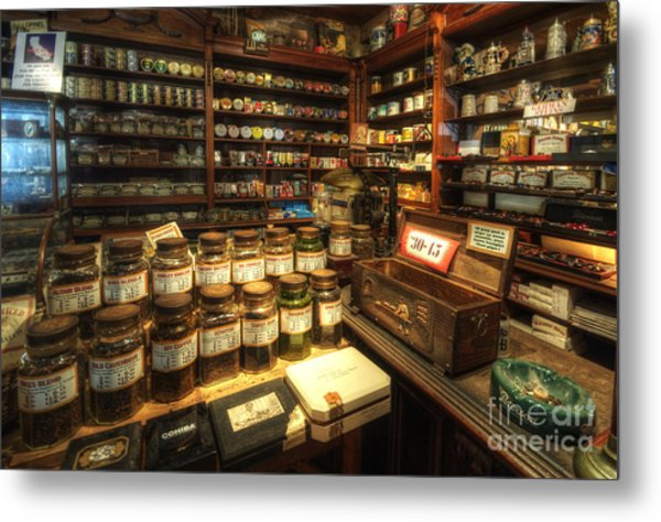 Tobacco Jars Metal Print
