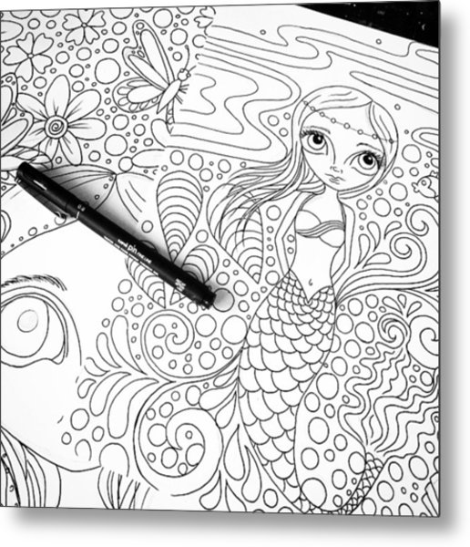 Today: Line Drawing. ✒️ Metal Print