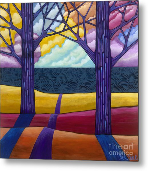 Metal Print featuring the painting Together Forever by Carla Bank