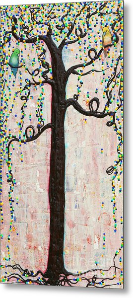 Metal Print featuring the mixed media Together Forever by Natalie Briney