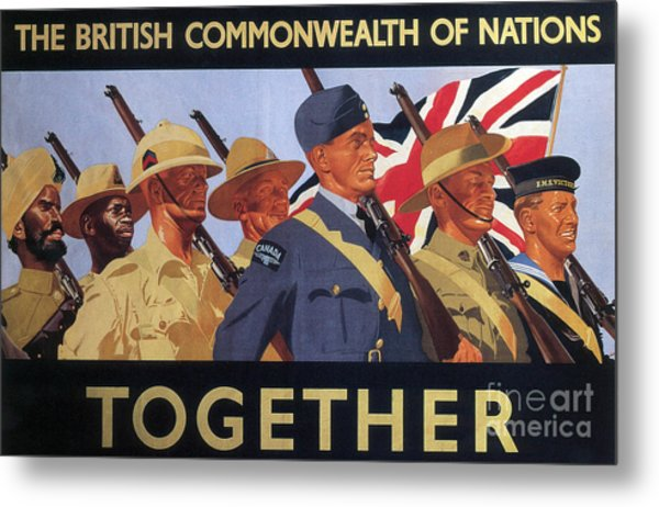 Together, World War Two  Recruitment Poster  Metal Print