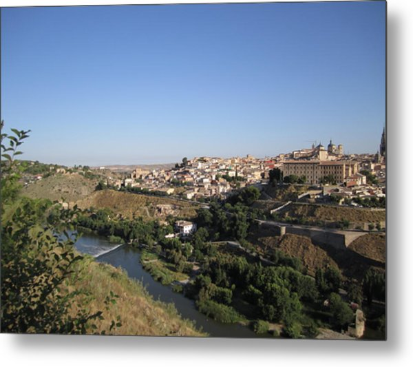 Toledo And The Country Side Metal Print