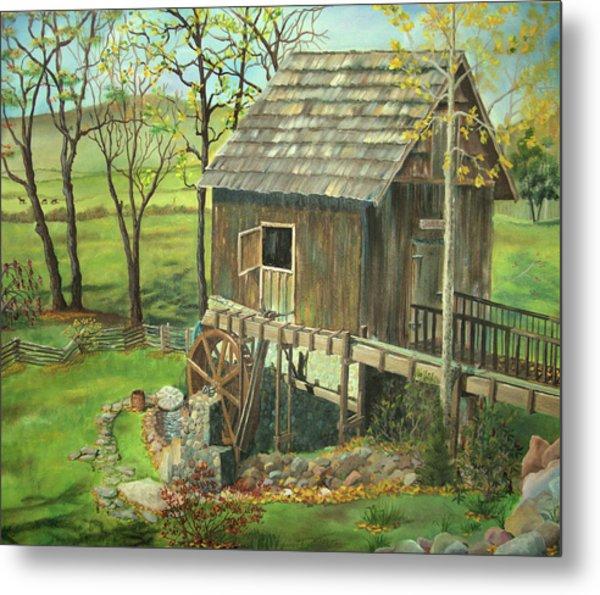 Tom Lott's Mill In Georgia Metal Print