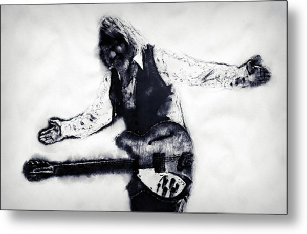 Tom Petty - 16 Metal Print by Andrea Mazzocchetti