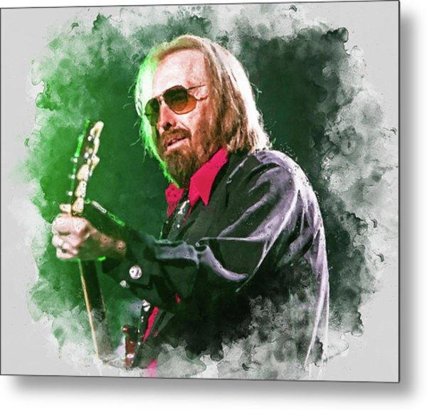 Tom Petty - 20 Metal Print by Andrea Mazzocchetti