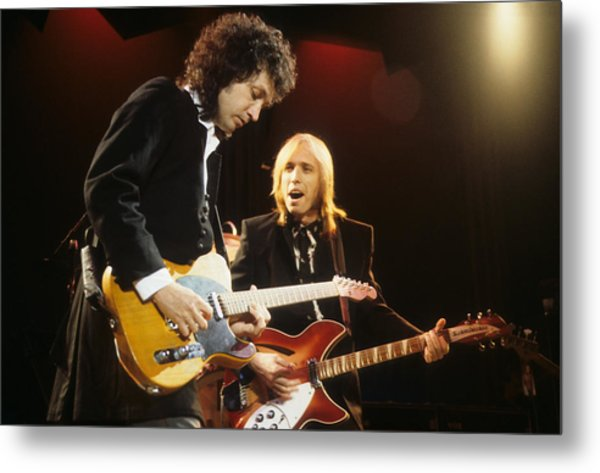 Tom Petty And Mike Campbell Metal Print