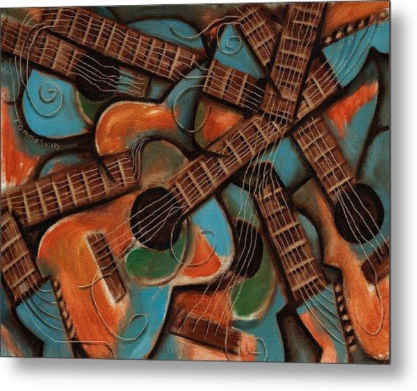 Tommervik Abstract Guitars Art Print Metal Print