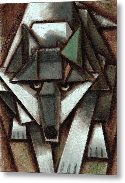Tommervik Gray Wolf Tree Art Print Metal Print
