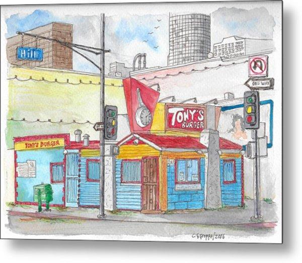 Tony Burger, Downtown Los Angeles, California Metal Print