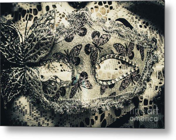 Toned Image Of Beautiful Festive Venetian Mask Metal Print