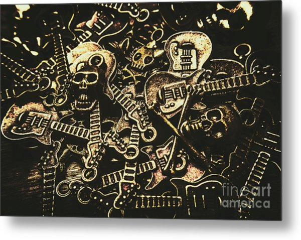 Tones Of Hard Rock Metal Print