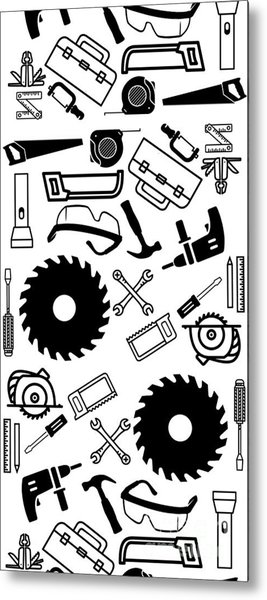 Tool Belt 1 Phone Case Metal Print