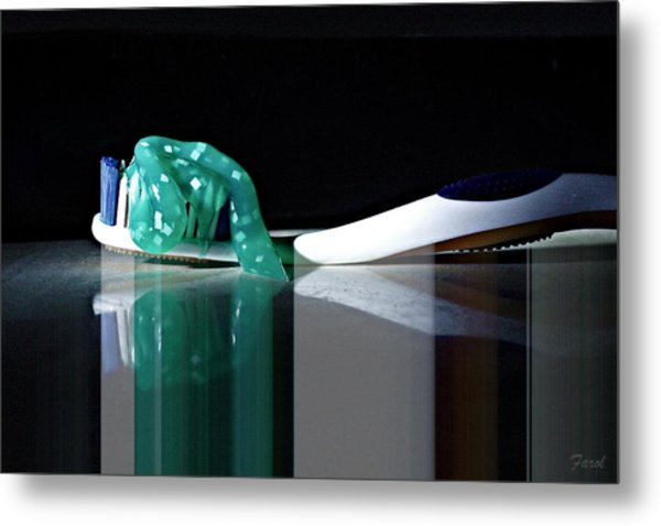 Toothbrush Metal Print