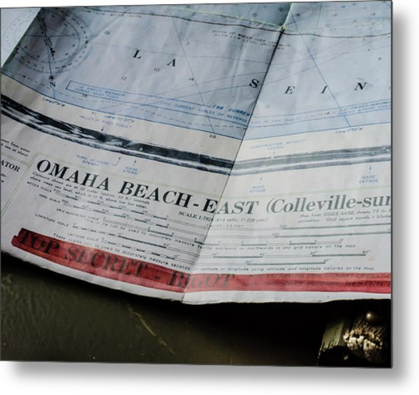 Top Secret - Omaha Beach Metal Print