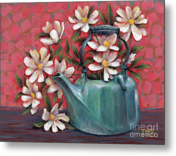 Topless With Daisies Metal Print