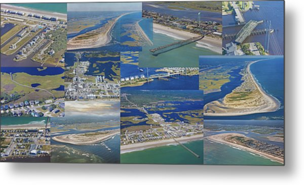 Topsail Island History From Above  Metal Print