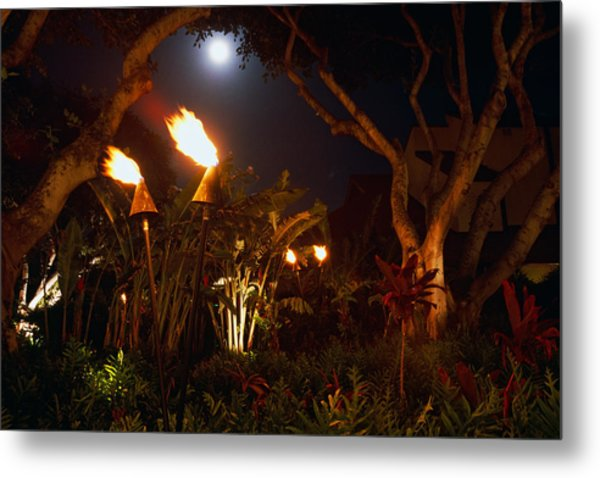 Torches Of Hawai Metal Print by George Oze