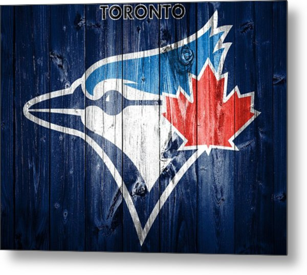 Toronto Blue Jays Barn Door Metal Print