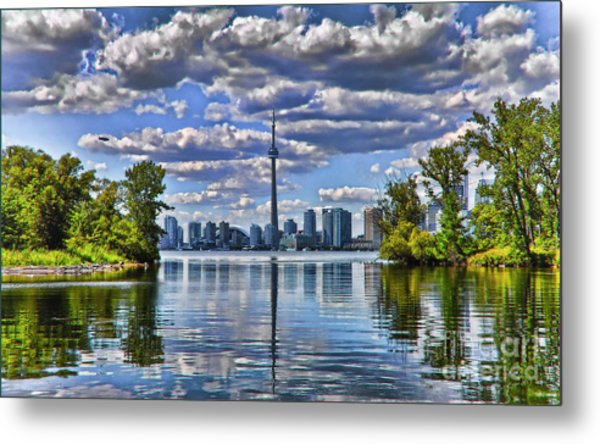 Toronto City View Metal Print by Elaine Manley