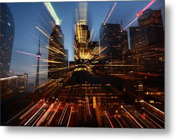 Toronto Skyline Streaks Metal Print