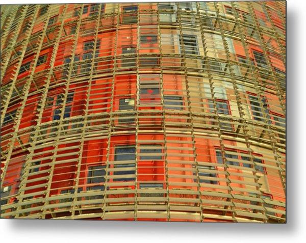 Torre Agbar Modern Facade Metal Print