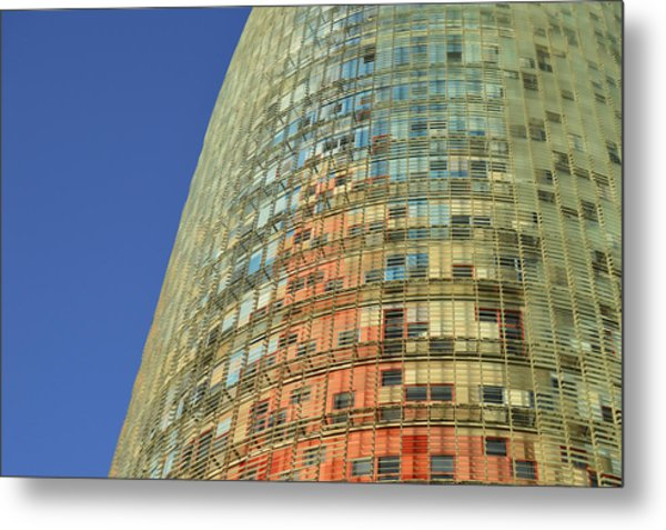 Torre Agbar Abstract Metal Print