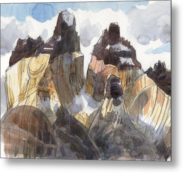 Torres Del Paine, Chile Metal Print