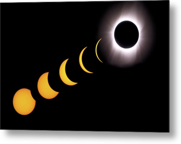 Total Eclipse Sequence, Aruba, 2/28/1998 Metal Print