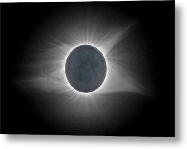 Metal Print featuring the photograph Total Solar Eclipse With Corona by Lori Coleman