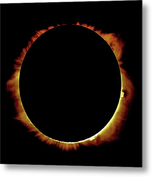 Totality Over Processed Metal Print