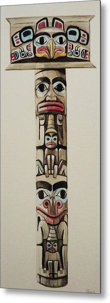 Totem Pole Metal Print by Lucy Deane