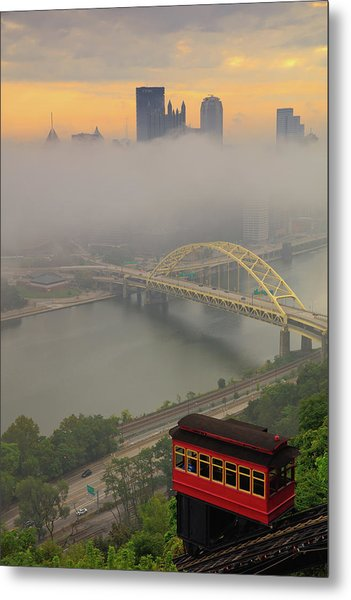 Touch Of Fog  Metal Print