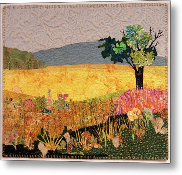 Touch Of Goldenrod Metal Print