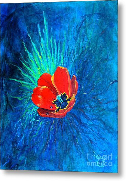 Touched By His Light Metal Print