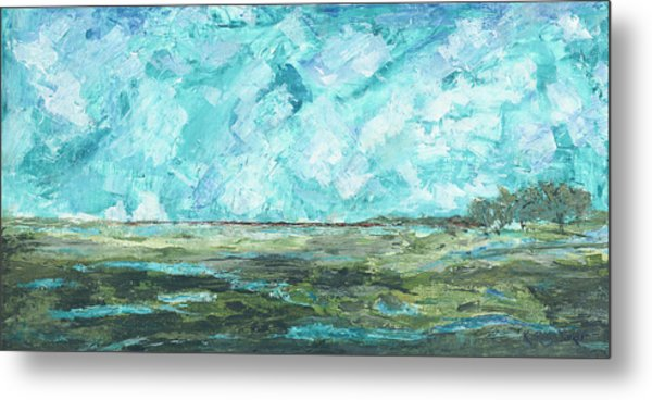 Metal Print featuring the painting Toward Pinckney Island by Kathryn Riley Parker