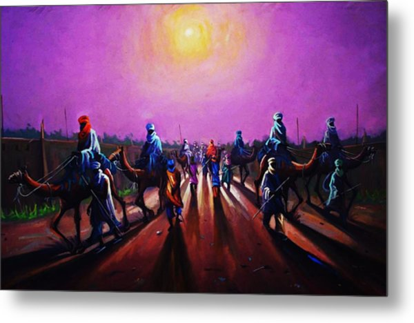 Towards Zaria Metal Print by Aderonke ADETUNJI