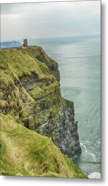 Tower At The Cliffs Of Moher Metal Print