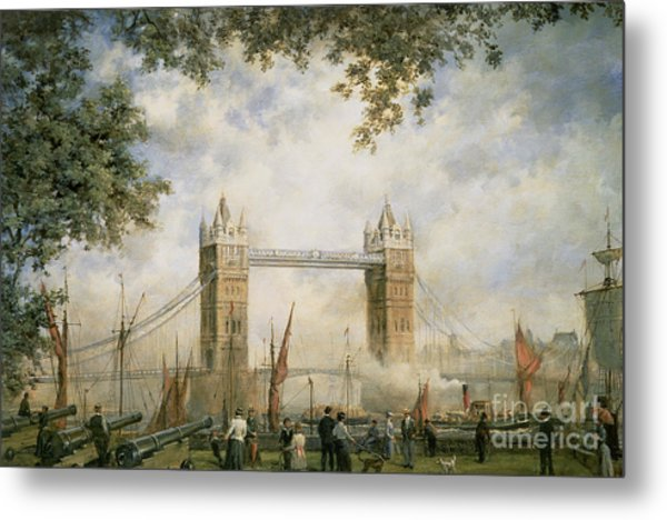 Tower Bridge - From The Tower Of London Metal Print