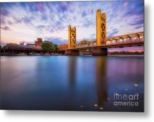 Tower Bridge Sacramento 3 Metal Print