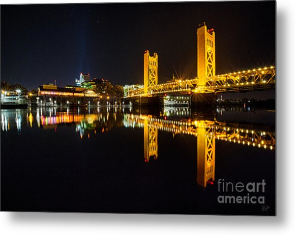 Tower Bridge Sacramento Metal Print