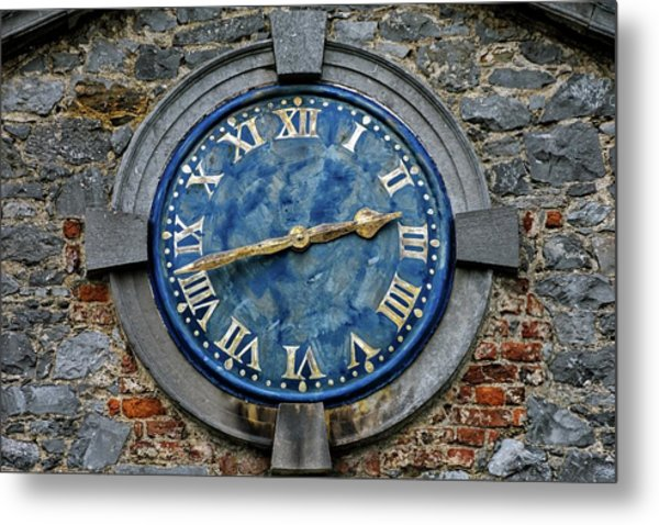 Tower Clock Metal Print