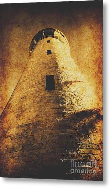 Tower Of Grunge Metal Print