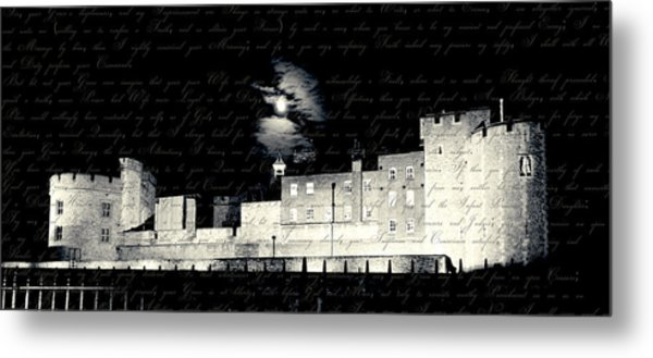 Tower Of London With Letter From Anne Boleyn Metal Print